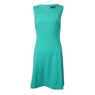 Nine West Women's Grommet-Trim A-Line Dress
