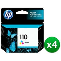 HP 110 Tri-color Original Ink Cartridge (CB304AN)(4-Pack)