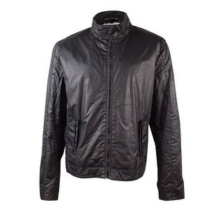 Calvin Klein Jeans Men's Track Biker Jacket (Black, XL) - XL