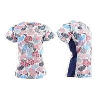 DSF Uniforms V-Neck Stretch Side Panel Print Scrub Top