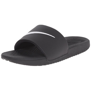 NIKE Boys' Kawa Slide Sandal (GS/PS), Black/White