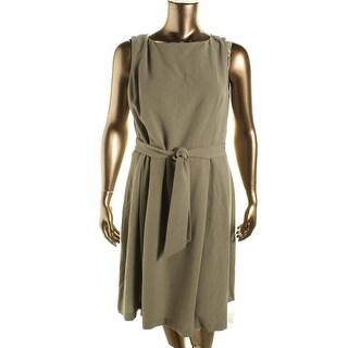 Anne Klein Womens Textured Lined Wear to Work Dress