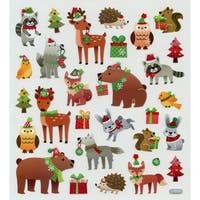 Holiday Animals - Multicolored Stickers