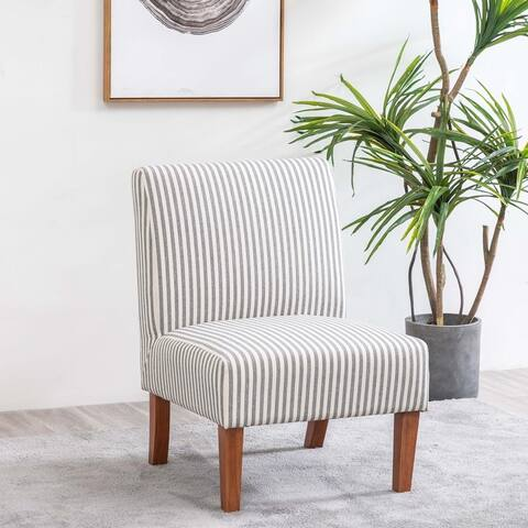 WOVENBYRD Armless Slipper Accent Chair