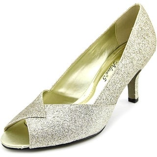 Easy Street Ravish Women  Peep-Toe Synthetic Gold Heels