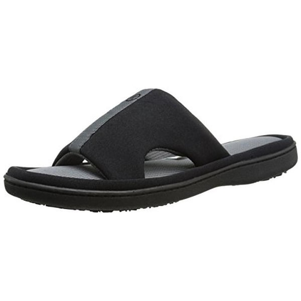 Isotoner Womens Slide Slippers Memory Foam Cut-Out