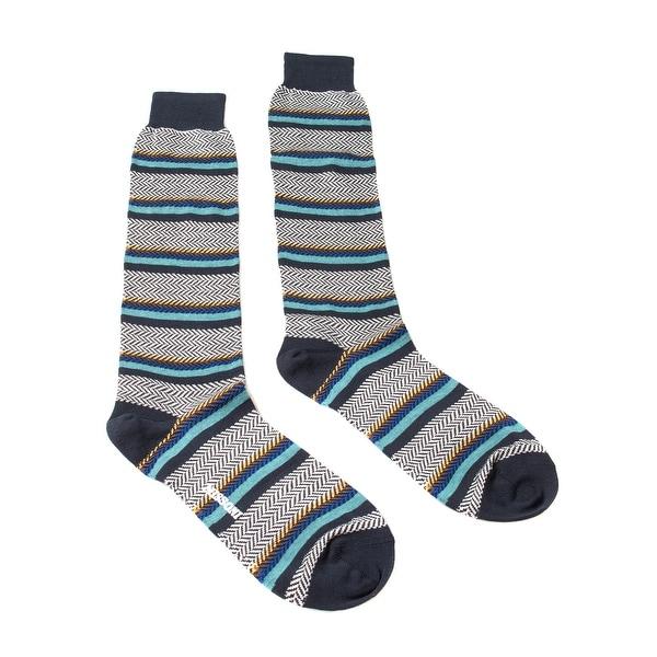 Missoni GM00COU4191 0002 Black/Turquoise Knee Length Socks - S
