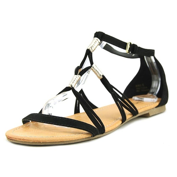 Report Gretchen Women Open Toe Synthetic Black Sandals