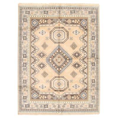 ECARPETGALLERY Hand-knotted Royal Kazak Beige Wool Rug - 9'0 x 11'10