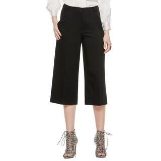 Vince Camuto NEW Black Women's Size 0X22 Capris Cropped Culotte Solid Pants