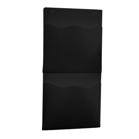 """Brewster TWPSP27 WallPops 22-7/16"""" Tall Plastic Wall Hanging Organizer with Two Storage Pockets - Set of (2)"""