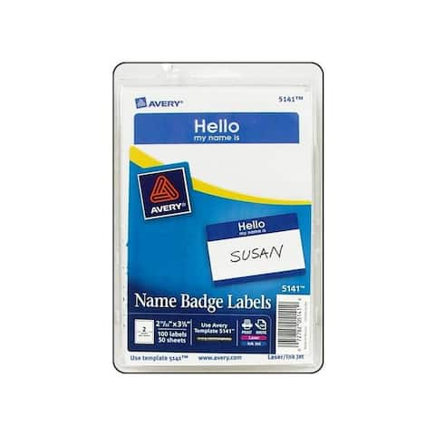 Avery dennison 5141 avery label name badge hello my name is blue 100pc