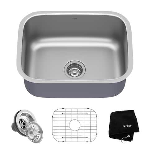 KRAUS Premier Stainless Steel 23 inch Undermount Kitchen Bar Sink