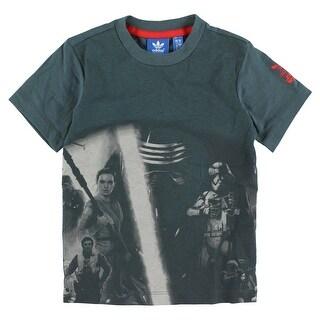 Adidas Baby Boys Toddler Star Wars Modern T Shirt Blue Grey - blue grey/red - 3t