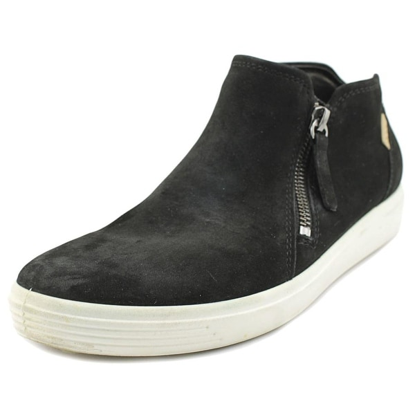 f66cea08ee Shop Ecco Soft 7 Mid Zip Round Toe Leather Sneakers - Free Shipping ...
