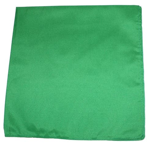 Pack of 10 Daily Basic Plain 100% Polyester 22 x 22 Bandanas - One Size Fits Most