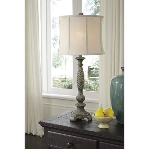 "Alinae Antique Gray 35 Inch Table Lamp - 15"" W x 15"" D x 33.75"" H"