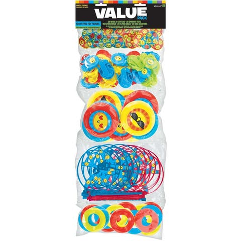 Party Favors 100/Pkg-Flying Smiley