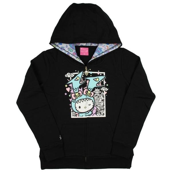67580c427 Shop Tokidoki x Hello Kitty Womens' Kawaii Kitty Kaiju Hoodie Jacket ...
