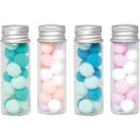 Large - We R Memory Keepers Glass Jars 4/Pkg
