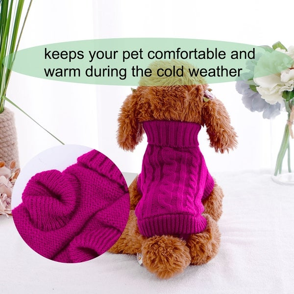 Pet Dog Clothes Sweater Coat Warm Dogs Shirt Winter Pet Clothing Puppy Wind Resistant Jacket Custom Magenta Size 6. Opens flyout.