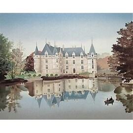 Azay le Rideau, Limited Edition, Lithograph, Michel Delacroix