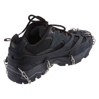 AGPtEK Ice Snow Grip Shoe Chains Anti Slip Overshoes Snow Shoes Crampons Cleats Size M