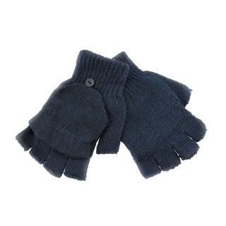 Knit Convertible Texting Mittens Gloves Smoker (Option: Blue)