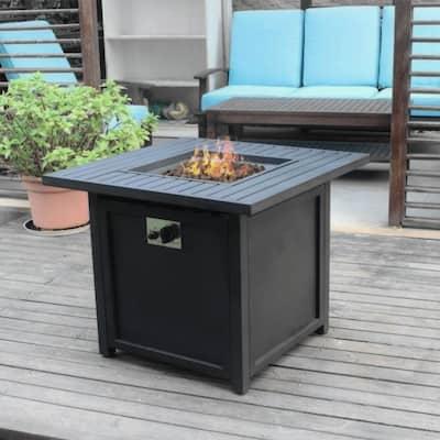 Austin 30-inch Slat Top Gas Fire Pit Table