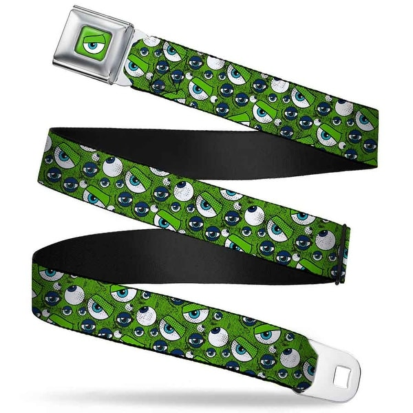 Monsters Eye Close Up Full Color Monsters Inc. Eye Collage Weathered Greens Seatbelt Belt