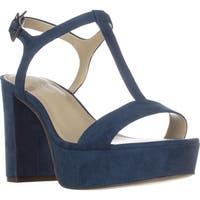Charles by Charles David Miller T-Strap Platform Sandals, Denim