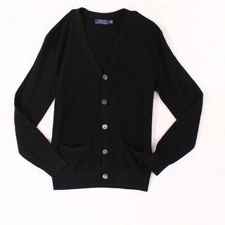 Polo Ralph Lauren Black Men Size XS Button Up Cardigan Wool Sweater