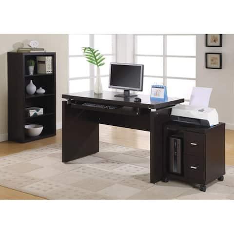 """Offex Contemporary Cappuccino 48""""L Computer Desk"""