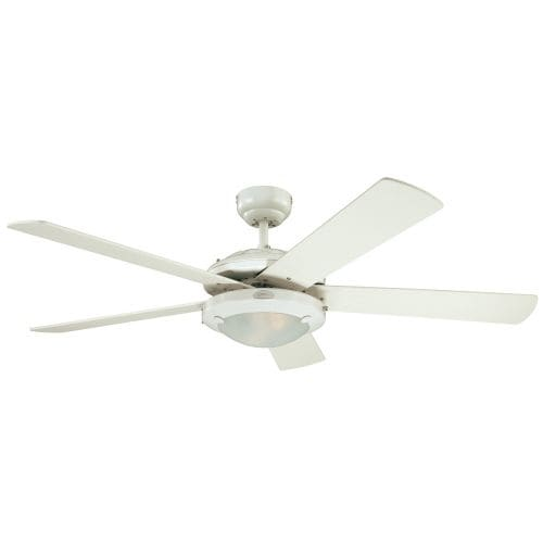 """Westinghouse 7801765 Comet 52"""" 5 Blade Hanging Indoor Ceiling Fan with Reversible Motor, Blades, Light Kit, and Down Rod"""
