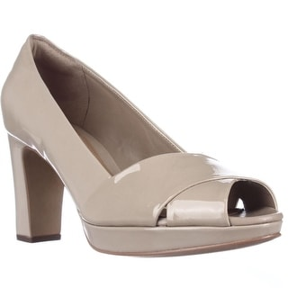Clarks Jenness Cloud Dress Pumps, Sand Patent