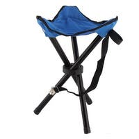 Traveling Camping Picnic Carriable Folding Pocket Chairs Tripod Seat Stool Blue