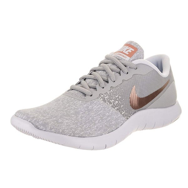 cef43bc4ad3 Shop Nike Womens Flex Contact Wolf Grey Mtlc Rose Gold Running Shoe ...