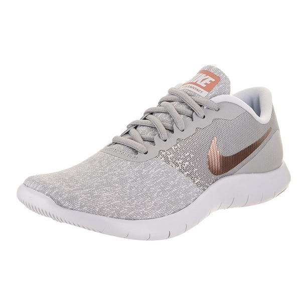 1b63ff42466e Shop Nike Womens Flex Contact Wolf Grey Mtlc Rose Gold Running Shoe ...