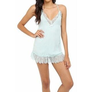 Betsey Johnson NEW Blue Womens Size Medium M Lace Babydoll Sleepwear