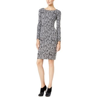 Betsey Johnson Womens Casual Dress Long Sleeve Floral