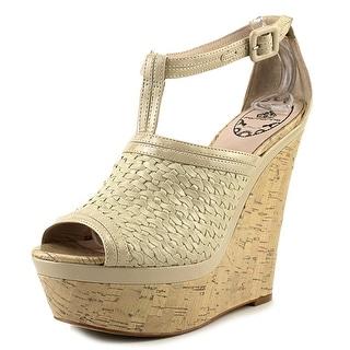 Fornarina PEFQM8339 Sandal Open Toe Leather Wedge Heel