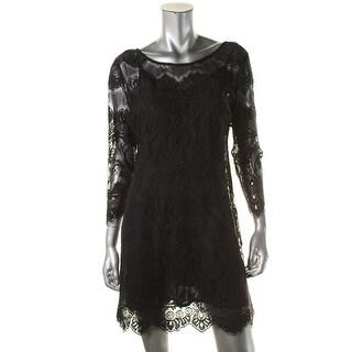 BB Dakota Womens Casual Dress Lace 3/4 Sleeves