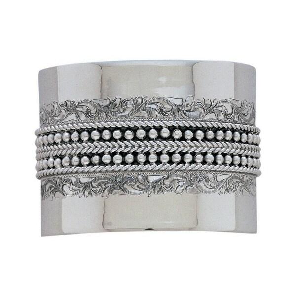 "Vogt Western Womens Bracelet Sterling Cuff Engraved 2"" Silver 014-051"