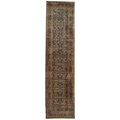 Handmade One-of-a-Kind 1960's Herati Wool Runner - 2'5 x 10'