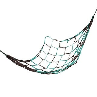 """Unique Bargains Camping Mesh Net Sleeping Bed Teal Green Coffee Color Nylon Hammock 75"""" x 28"""""""