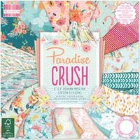 "Paradise Crush; 16 Designs/3 Each - First Edition Premium Paper Pad 8""X8"" 48/Pkg"