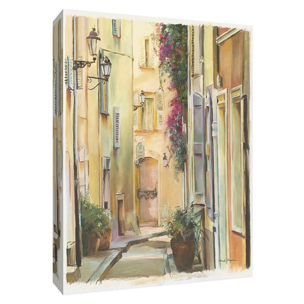 """PTM Images 9-154829 PTM Canvas Collection 10"""" x 8"""" - """"Montmartre I"""" Giclee Houses Art Print on Canvas"""