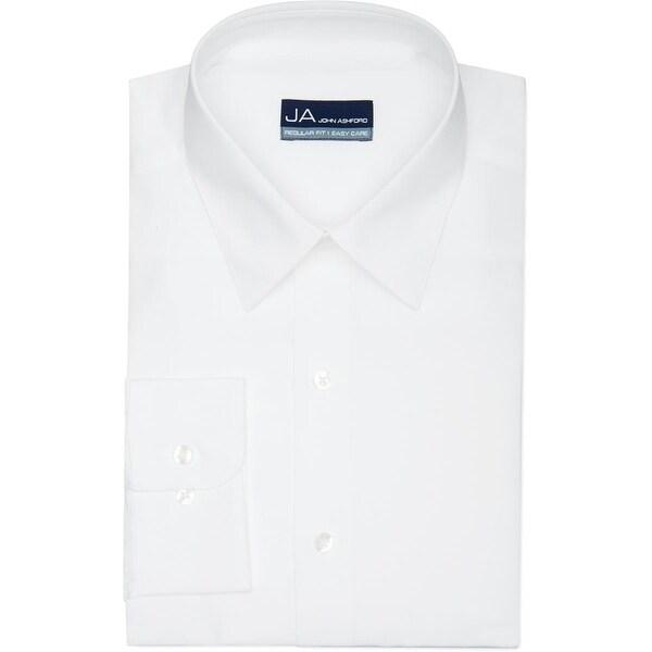 John Ashford Mens Dress Shirt Regular Fit Spread Collar