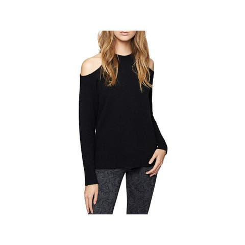 Sanctuary Womens Gretchen Pullover Sweater Wool Cold Shoulder