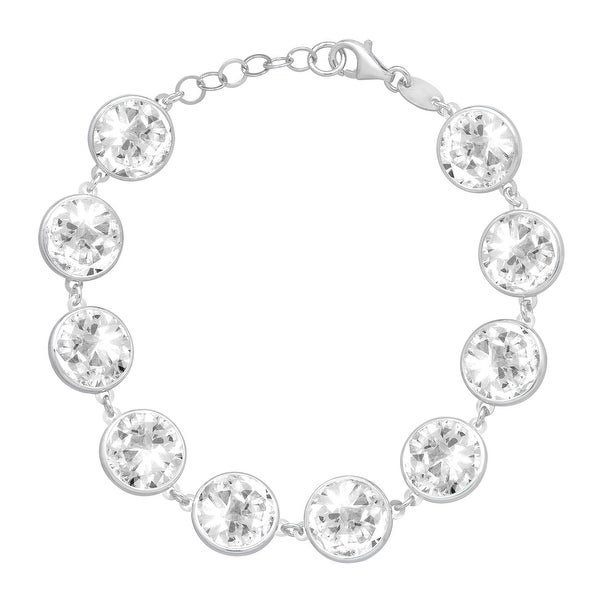 Crystaluxe Bracelet with Swarovski Elements Crystals in Sterling Silver - White